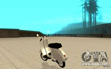GTAIV EFLC Faggio Classic for GTA San Andreas back left view