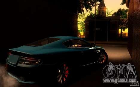 Aston Martin Virage V1.0 for GTA San Andreas back view
