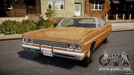 Plymouth Fury III Coupe 1969 for GTA 4