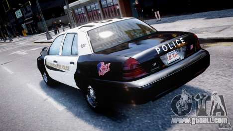 Ford Crown Victoria Massachusetts Police [ELS] for GTA 4 interior