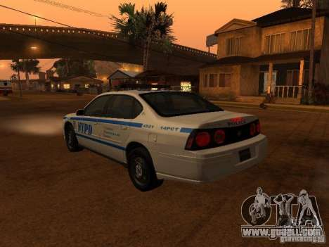 Chevrolet Impala Police 2003 for GTA San Andreas left view