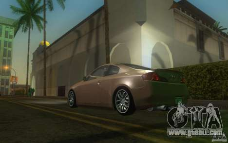 Infiniti G35 - Stock for GTA San Andreas back left view
