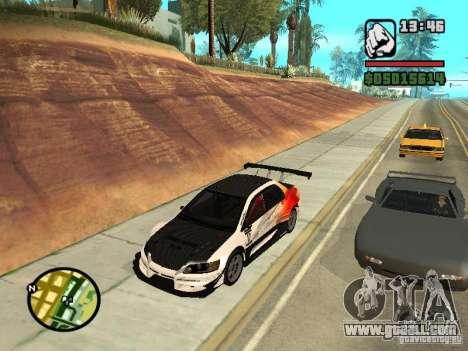 Mitsubishi Lancer Evo IX SpeedHunters Edition for GTA San Andreas right view