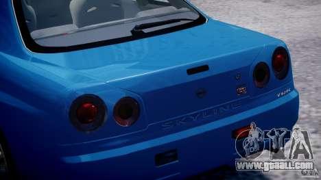 Nissan Skyline GT-R 34 V-Spec for GTA 4 engine