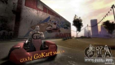 GoKart Mod 1.0 for GTA 4 back left view