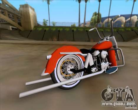 Harley-Davidson FL Duo Glide 1961 (Lowrider) for GTA San Andreas back left view