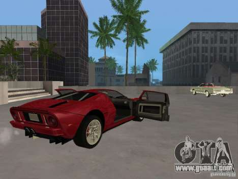 Ford GT for GTA San Andreas inner view