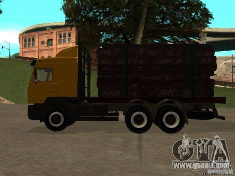 Super MAZ 5551 for GTA San Andreas left view
