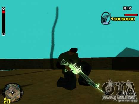 Blue weapons pack for GTA San Andreas third screenshot