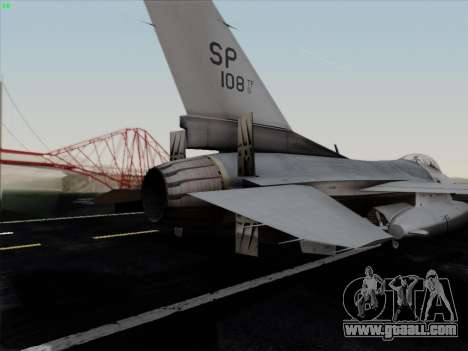 F-16C Warwolf for GTA San Andreas engine