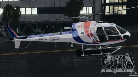 Eurocopter AS350 Ecureuil (Squirrel) Malaysia for GTA 4 back left view