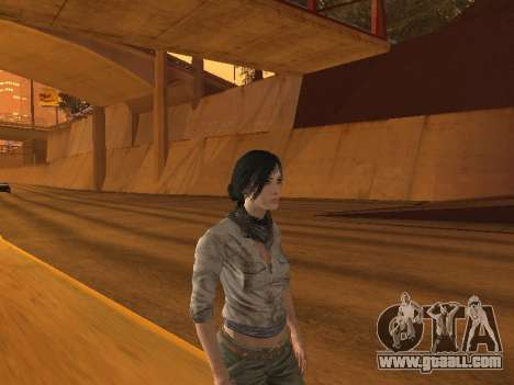 FaryCry 3 Liza Snow for GTA San Andreas second screenshot