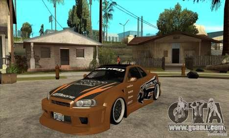 Nissan Skyline GTR - EMzone B-day Car for GTA San Andreas