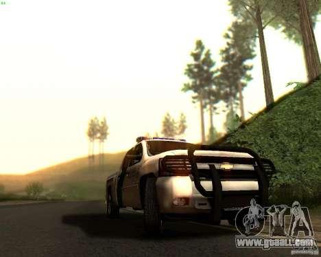 Chevrolet Silverado Police for GTA San Andreas interior
