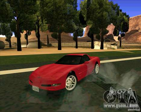 Chevrolet Corvette C5 z06 for GTA San Andreas right view