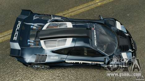 McLaren F1 ELITE Police [ELS] for GTA 4 right view