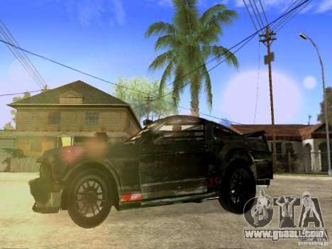 Ford Mustang Death Race for GTA San Andreas back view