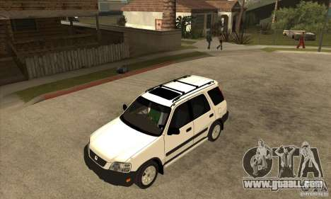 Honda CRV 1997 for GTA San Andreas inner view