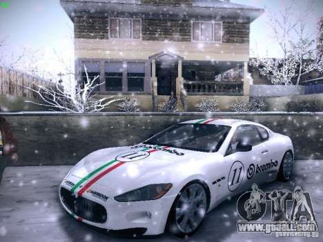 Maserati Gran Turismo S 2011 V2 for GTA San Andreas inner view
