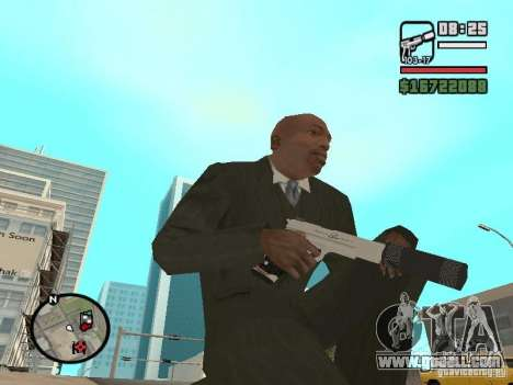 Silverballer silenced from Hitman for GTA San Andreas second screenshot