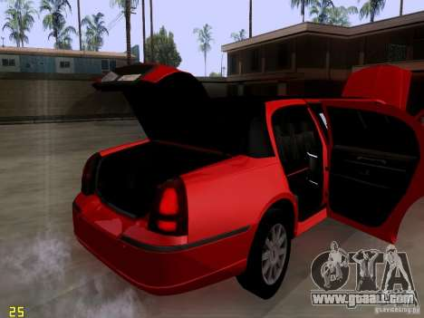 Lincoln Towncar 2010 for GTA San Andreas inner view