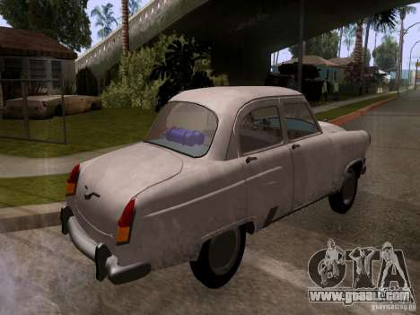 GAZ 21 Volga for GTA San Andreas back left view