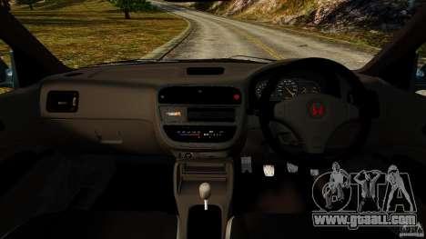 Honda Civic Type R (EK9) for GTA 4 back view