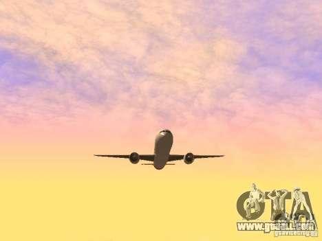 Boeing 787 Dreamliner Qantas for GTA San Andreas inner view