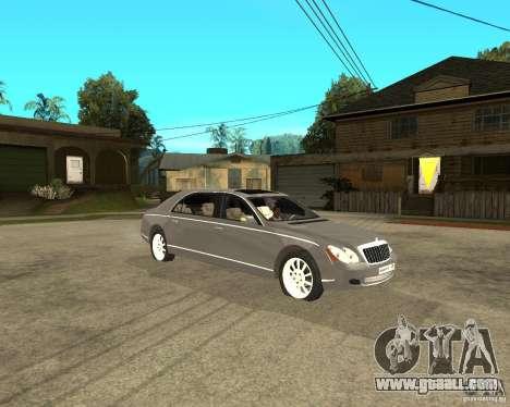 Maybach 62 for GTA San Andreas right view