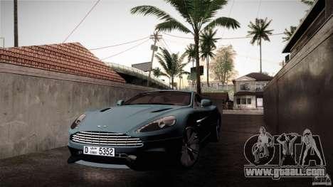 Aston Martin Vanquish V12 for GTA San Andreas back view