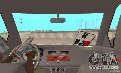 Suzuki Swift Tuning for GTA San Andreas back view