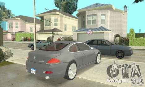 2004 BMW 645ci E63 with red Interior for GTA San Andreas left view