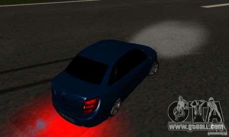 Lada Granta Light Tuning for GTA San Andreas upper view