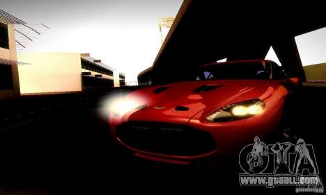 Aston Martin V12 Zagato Final for GTA San Andreas inner view