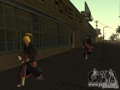 The Akatsuki gang for GTA San Andreas sixth screenshot