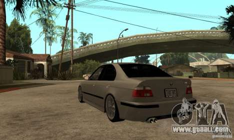 BMW E39 M5 Sedan for GTA San Andreas back left view