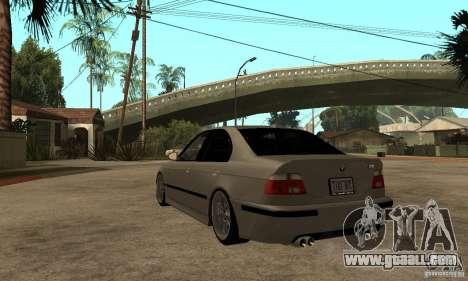 BMW E39 M5 Sedan for GTA San Andreas back left view