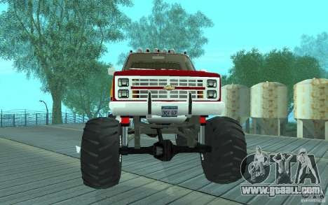 Chevrolet Silverado 2500 MonsterTruck 1986 for GTA San Andreas left view