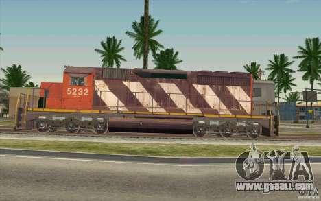 CN SD40 ZEBRA STRIPES for GTA San Andreas left view