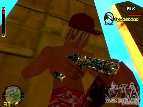 Grafiti weapons pack for GTA San Andreas