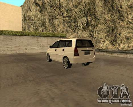 Toyota Innova for GTA San Andreas right view