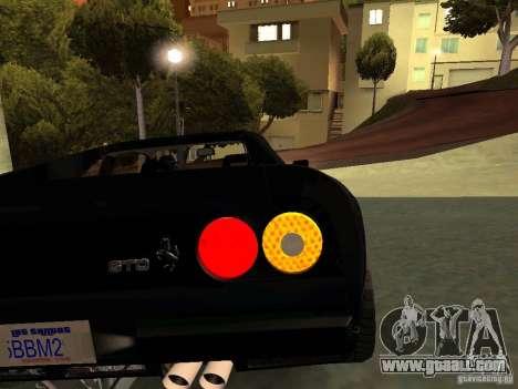 Ferrari 288 GTO for GTA San Andreas bottom view