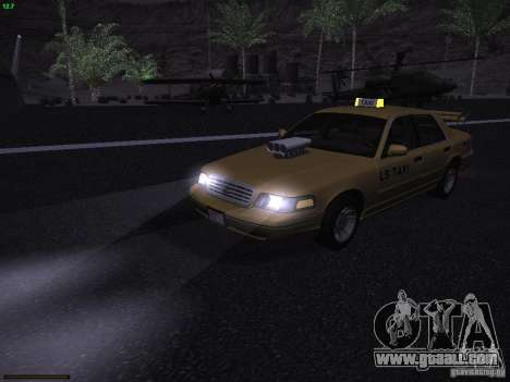 Ford Crown Victoria Taxi 2003 for GTA San Andreas upper view