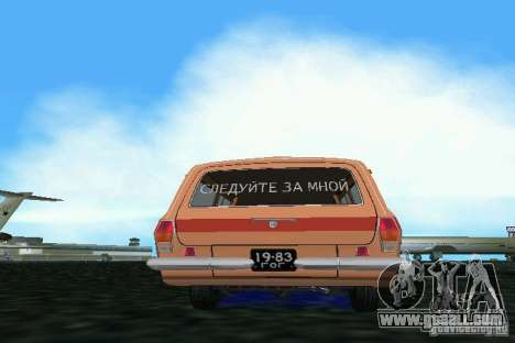 GAZ Volga 2402-Aeroflot for GTA Vice City right view