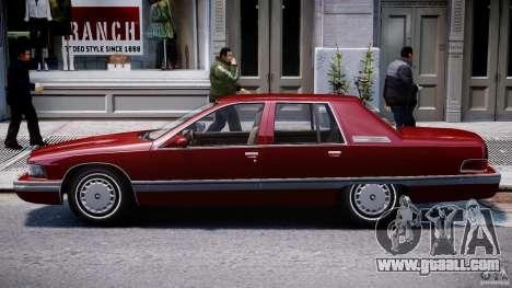 Buick Roadmaster Sedan 1996 v 2.0 for GTA 4 back left view