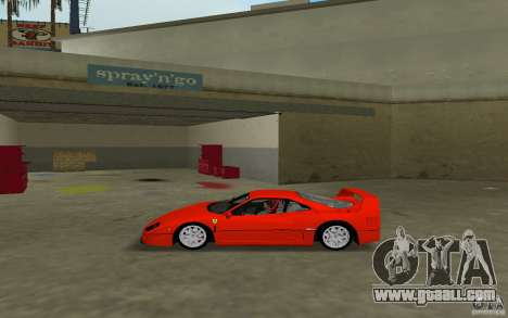 Ferrari F40 for GTA Vice City back left view