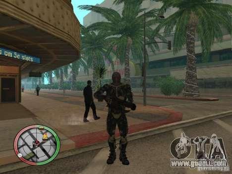Alien weapons of Crysis 2 for GTA San Andreas fifth screenshot