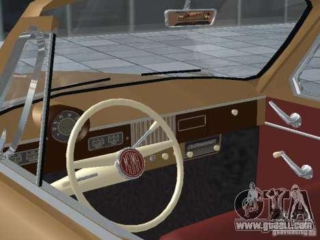 Moskvich 403 Cabrio for GTA San Andreas back view