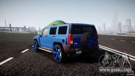 Hummer H3 for GTA 4 back left view