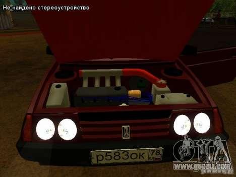 VAZ 2109 for GTA San Andreas interior